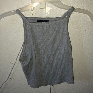 Forever 21 gray crop top